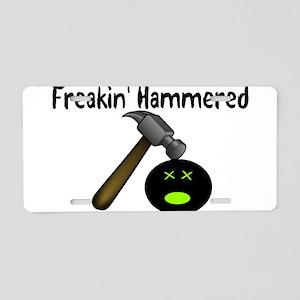 Freakin Hammered Aluminum License Plate