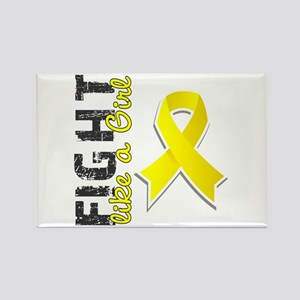 Licensed Fight Like A Girl 28.8 E Rectangle Magnet