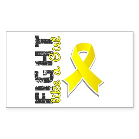 Licensed Fight Like A Girl 28. Sticker (Rectangle)