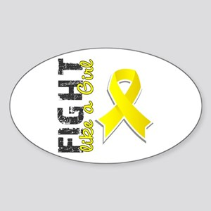 Licensed Fight Like A Girl 28.8 End Sticker (Oval)