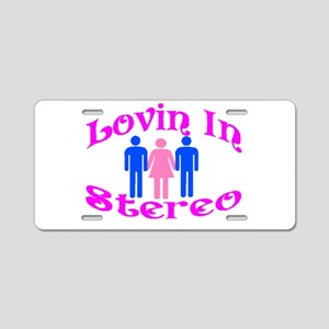 Woman Stereo Aluminum License Plate