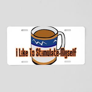 Coffee Stimulation Aluminum License Plate