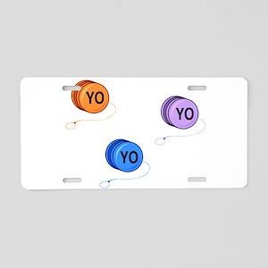 Yo Yo Yo Aluminum License Plate