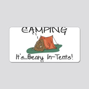 Beary In-Tents Aluminum License Plate