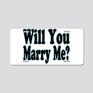 Will You Marry Me? His Aluminum License Plate