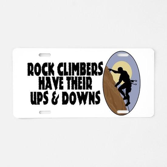 Rock Climbers Aluminum License Plate