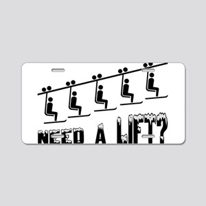 Need A Ski Lift Aluminum License Plate