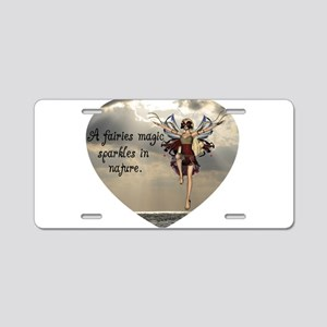 Fairy Sparkle Aluminum License Plate