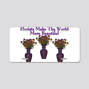 Florists Aluminum License Plate
