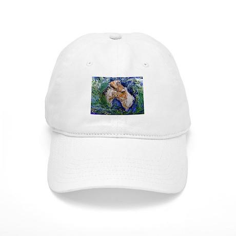 Fox Terrier in Blue Cap