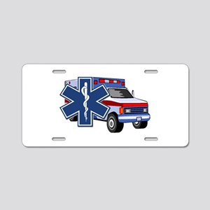 EMS Ambulance Aluminum License Plate