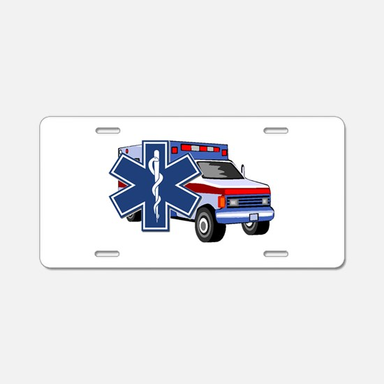 EMS Ambulance Aluminum License Plate