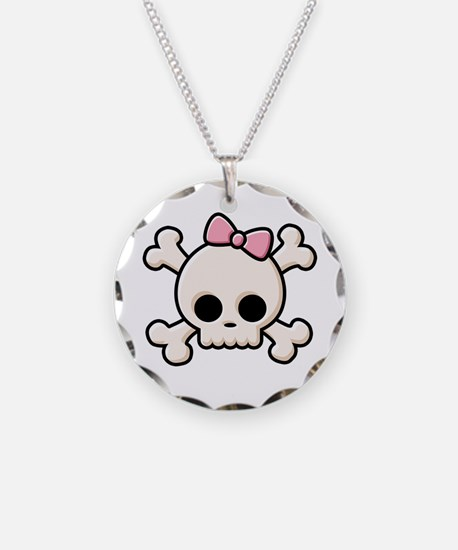 Cute Skull Girl Necklace