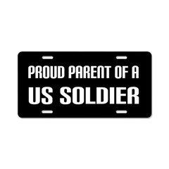 Proud Parent US Soldier License Plate