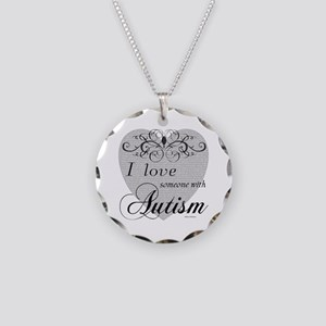 I love Someone With Autism ~ Necklace Circle Charm