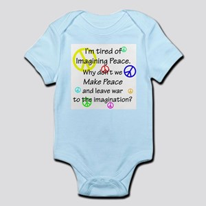 Make Peace/Imagine War Infant Bodysuit