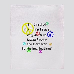 Make Peace/Imagine War Throw Blanket