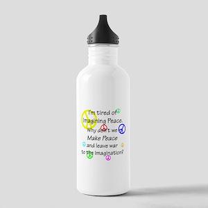Make Peace/Imagine War Stainless Water Bottle 1.0L