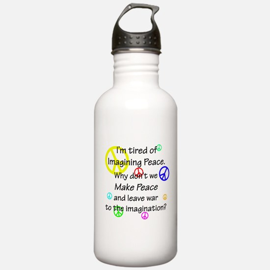Make Peace/Imagine War Water Bottle