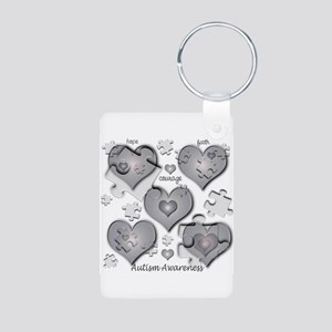 The Missing Piece Is Love Aluminum Photo Keychain