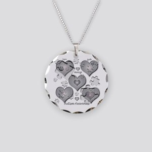 The Missing Piece Is Love Necklace Circle Charm