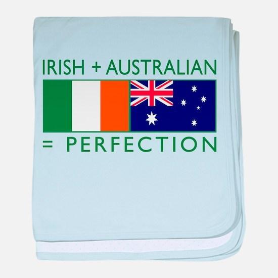 Irish Australian flags baby blanket