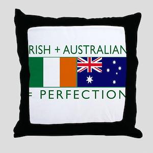 Irish Australian flags Throw Pillow