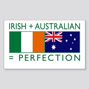 Irish Australian flags Sticker (Rectangle)