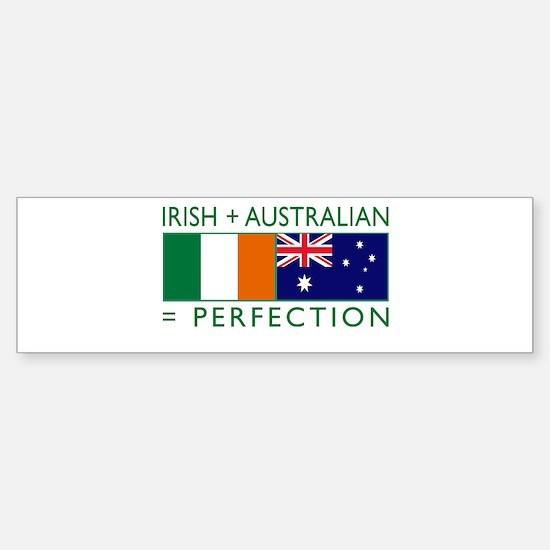 Irish Australian flags Sticker (Bumper)