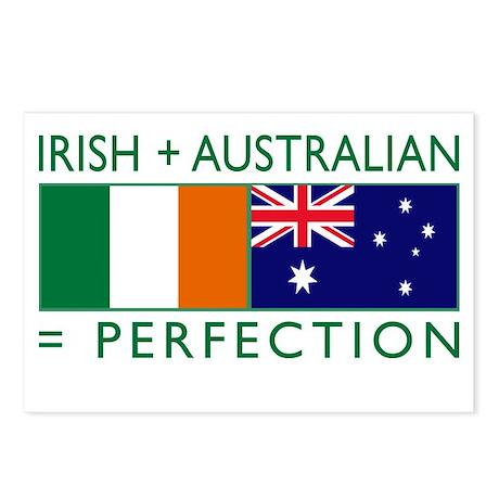 Irish Australian flags Postcards (Package of 8)