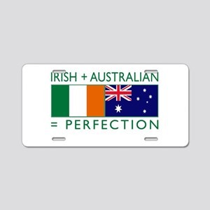 Irish Australian flags Aluminum License Plate