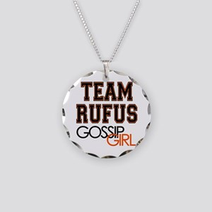 Team Rufus Gossip Girl Necklace Circle Charm