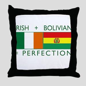 Irish Bolivian flags Throw Pillow