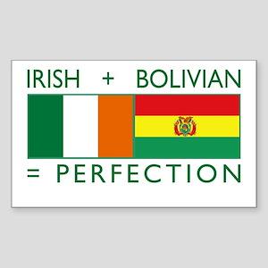 Irish Bolivian flags Sticker (Rectangle)