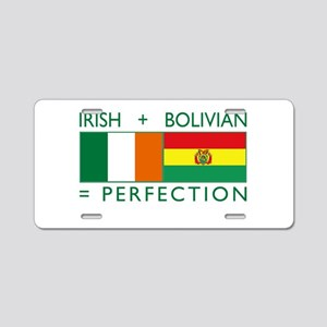 Irish Bolivian flags Aluminum License Plate