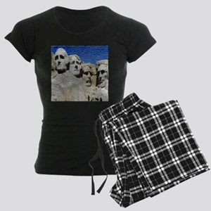 Mount Rushmore Photo Montage Women's Dark Pajamas