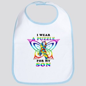 I Wear A Puzzle for my Son Bib