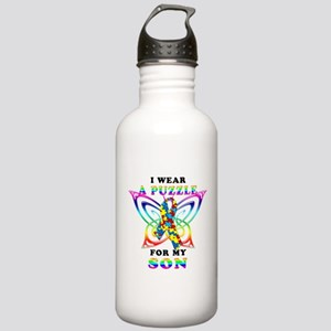 I Wear A Puzzle for my Son Stainless Water Bottle