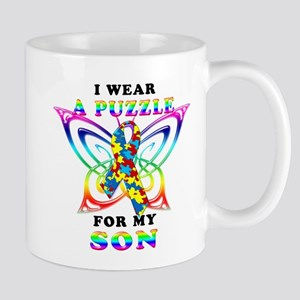 I Wear A Puzzle for my Son Mug
