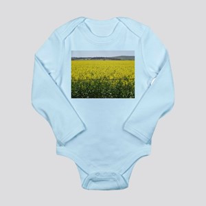 canola fields 2 Long Sleeve Infant Bodysuit