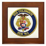 USS COLUMBUS Framed Tile