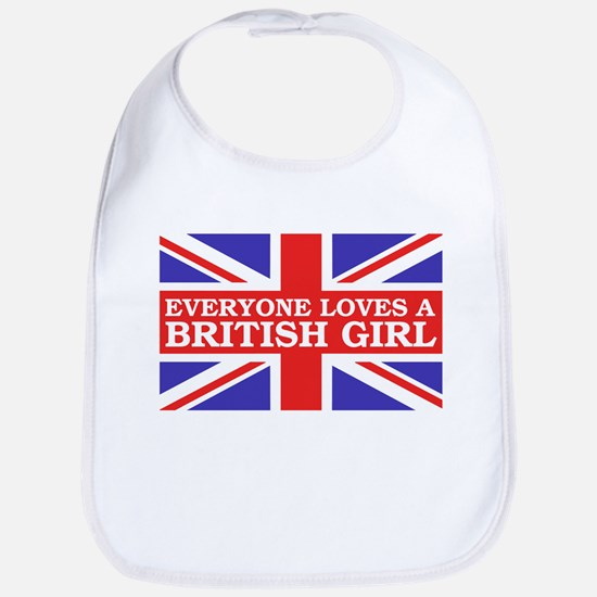 Everyone Loves a British Girl Bib
