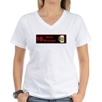 10 drink minimum Women's V-Neck T-Shirt