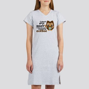 Morning Coffee Owl T-Shirt