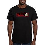 10 drink minimum Men's Fitted T-Shirt (dark)