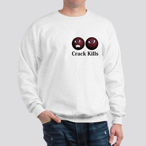 Crack Kills Logo 11 Sweatshirt Design Front Pocket