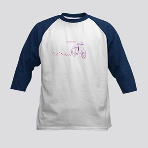 Scootin' Girl Dots Design Kids Baseball Jersey