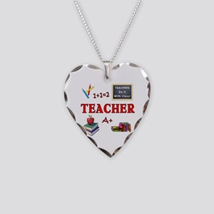 Teachers Do It With Class Necklace Heart Charm