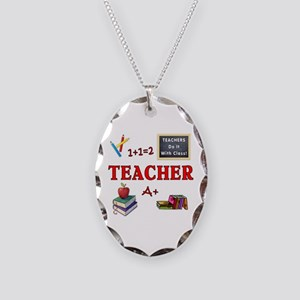 Teachers Do It With Class Necklace Oval Charm