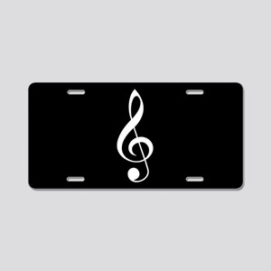 Music Treble Clef License Plate Gift